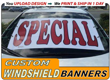 Upload Your Custom Windshield Banner Design