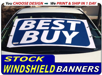 View Our Stock Windshield Banners Now