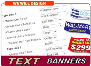 Text Banners