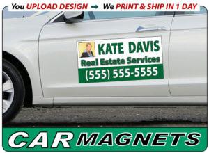 Car Magnets Fast Cheap DayBannercom - Custom car magnet cheap