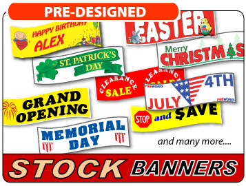 Purchase Stock Banners at Low Prices