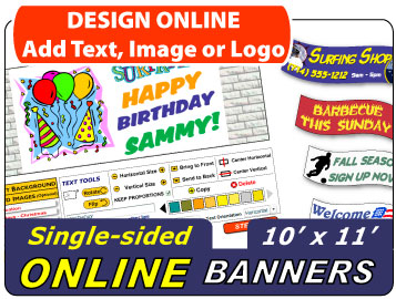 Design Your 10x11 Banner Online