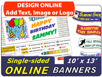 Design Your 10x13 Banner Online