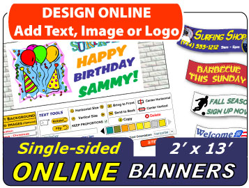 Design Your 2x13 Banner Online
