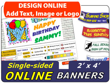 Design Your 2x4 Banner Online
