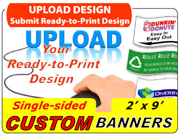 Upload Your 2x9 Custom Banner Design
