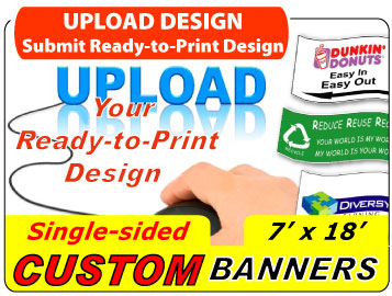 Upload Your 7x18 Custom Banner Design